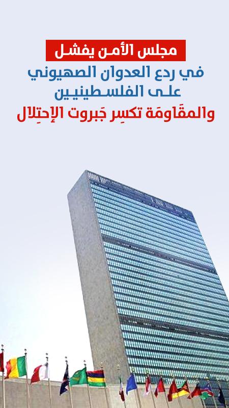 الأمم المتحدة تفشل في ردع العدوان الصهيوني