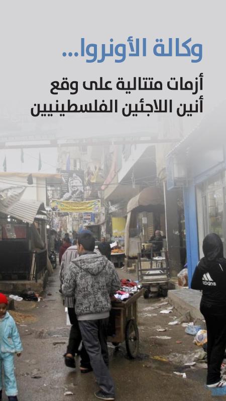 وكالة الأونروا ...  أزمات متتالية على وقع أنين اللاجئين الفلسطينيين